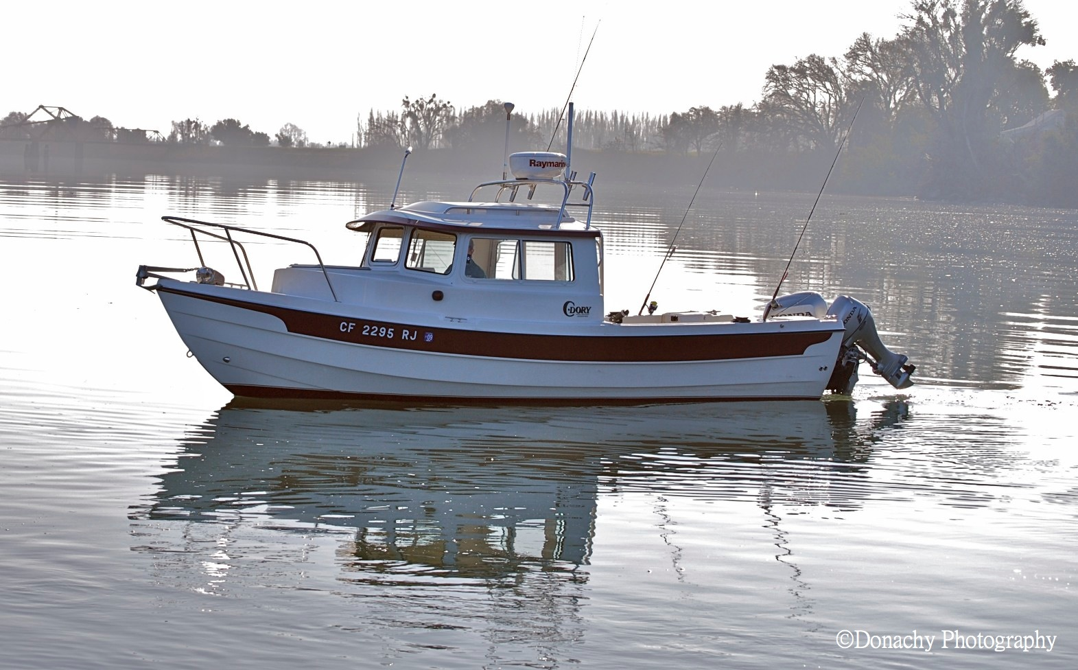 ... : Our 2008 C-Dory 22 Angler taking a cruise on the Sacramento River