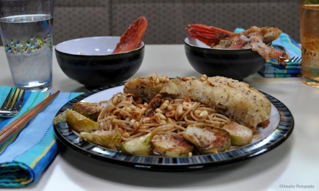 Rockfish Meunière on Whole Wheat Pasta | CutterLight