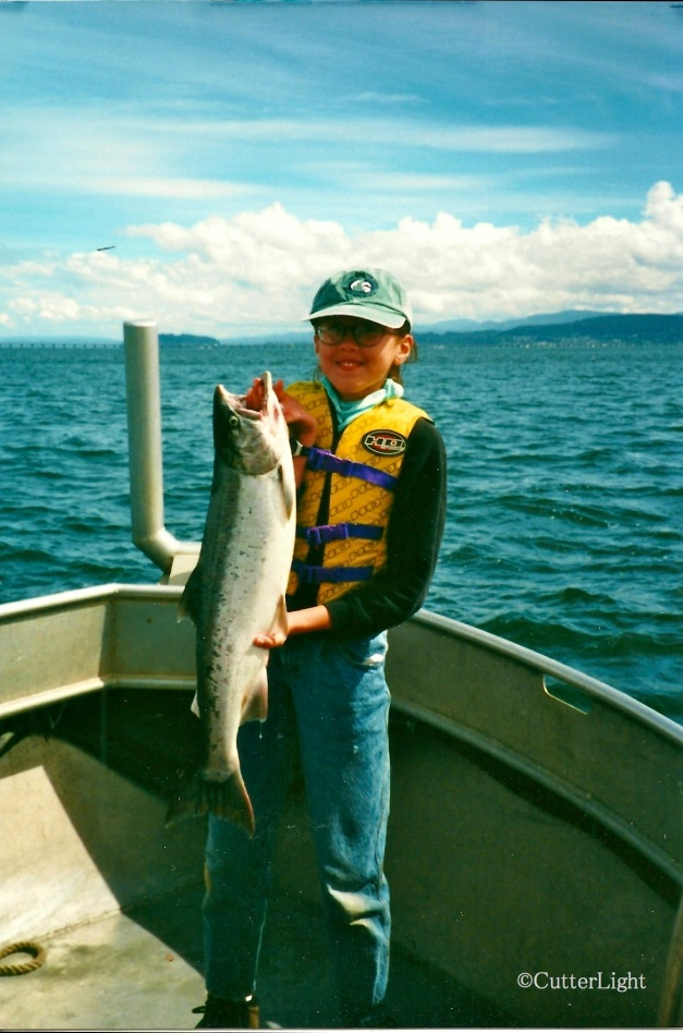 Maia's First Salmon, Columbia River n