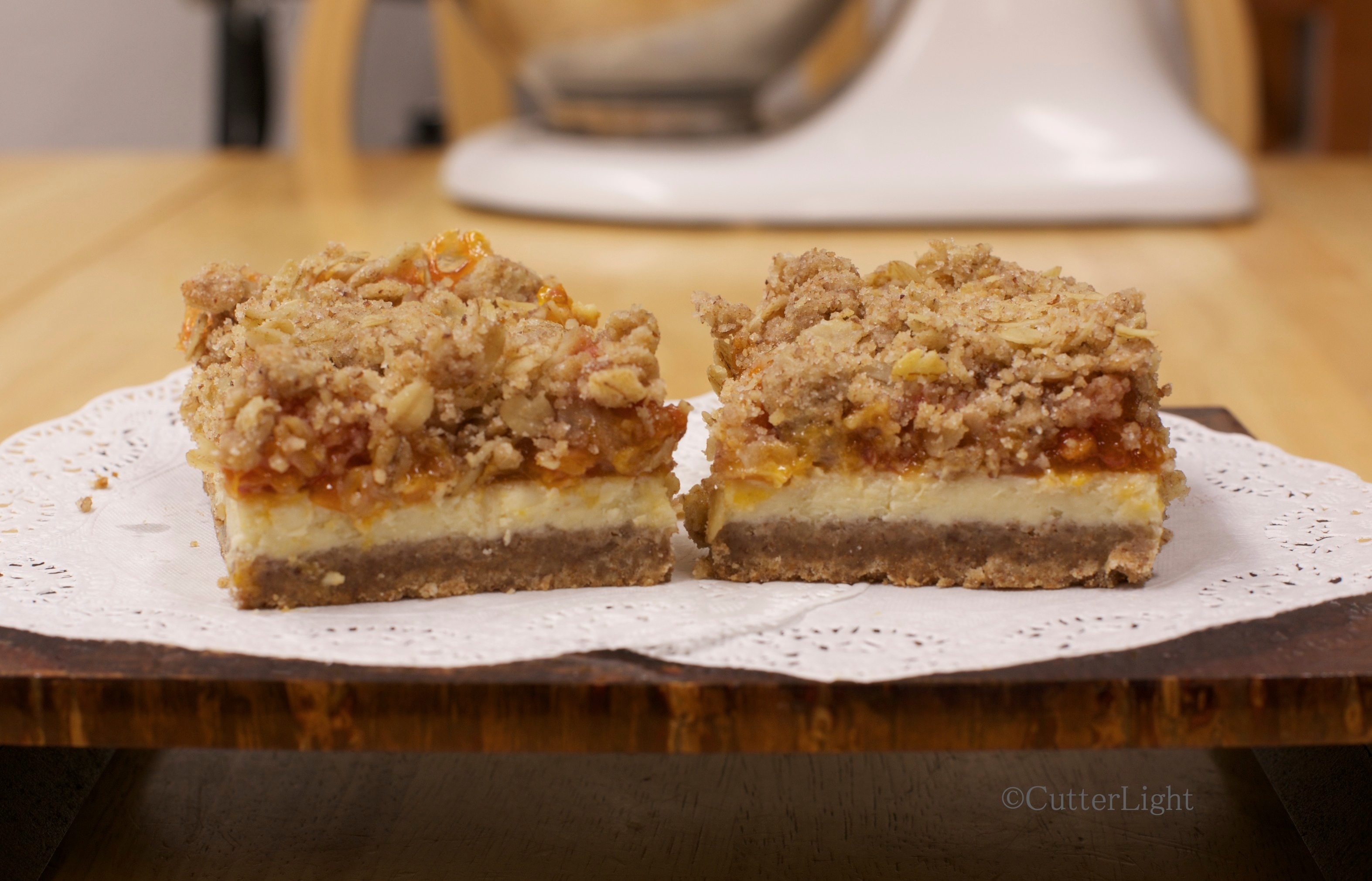 Cloudberry Cheesecake Cookie Bars | CutterLight