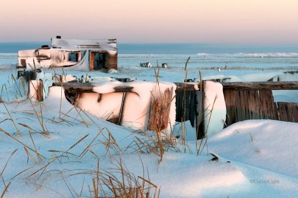 old tikigaq house winter n