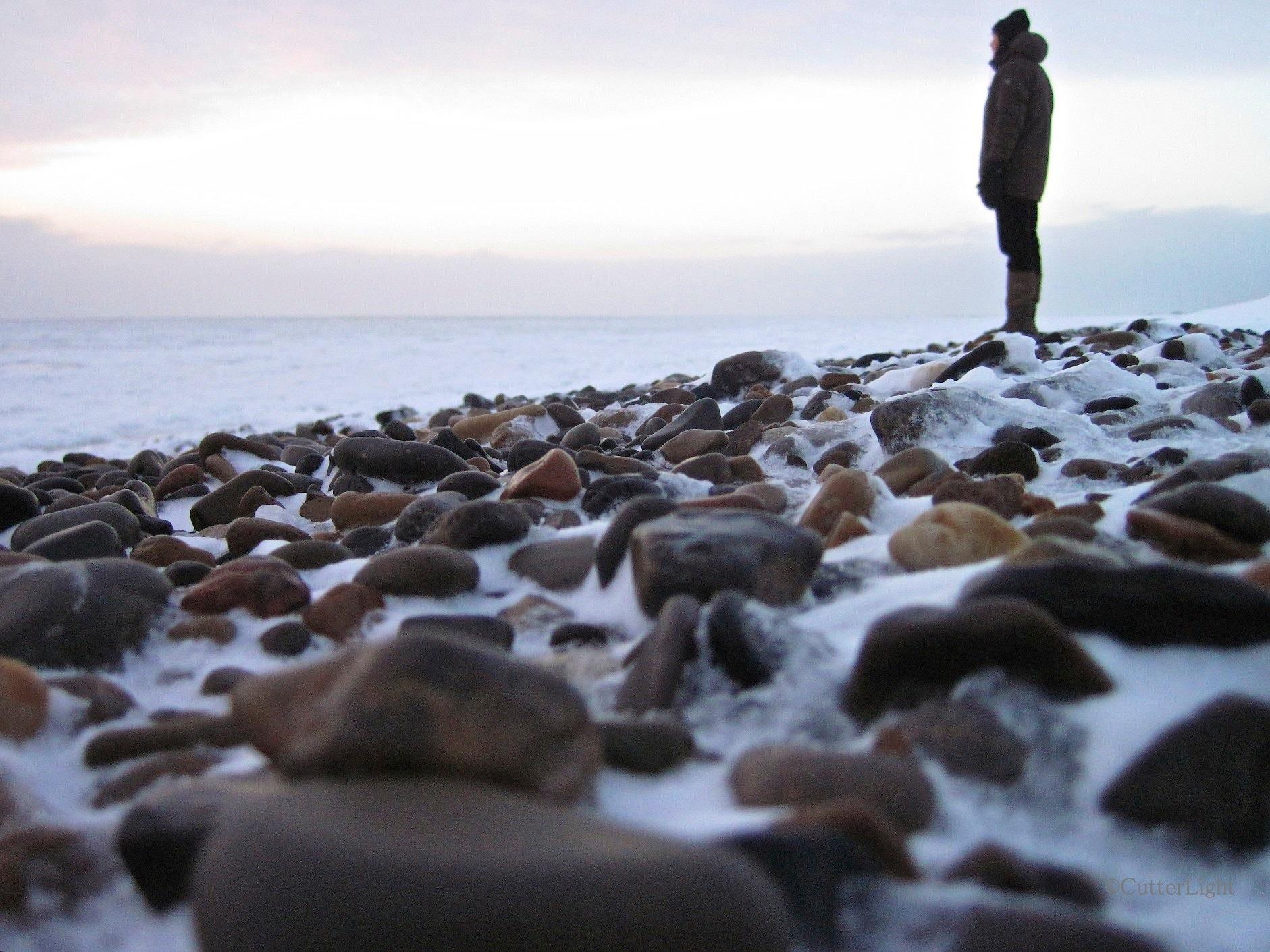 point hope frozen beach n