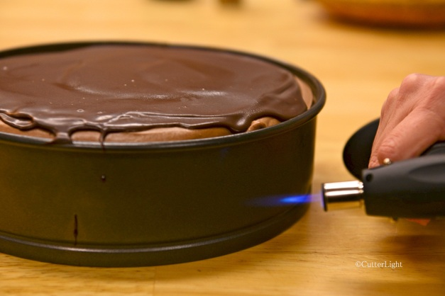 chocolate mousse cake w torch n