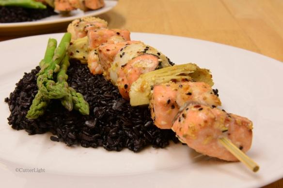 salmon kabab n