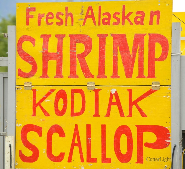 Alaska shrimp & scallops sign n
