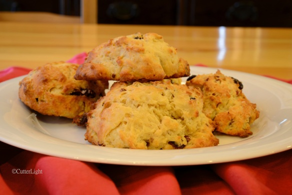 Mongolian scones stacked n