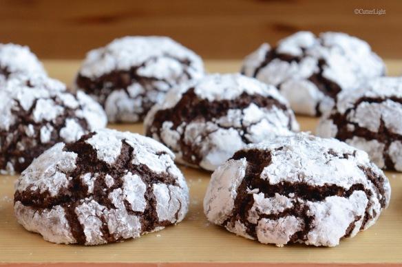chocolage orange pecan crinkle cookies n