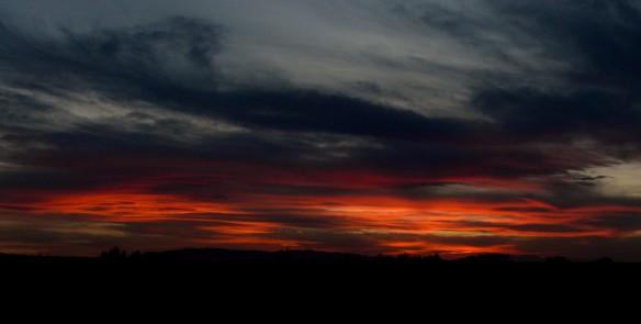 sunset south gobi