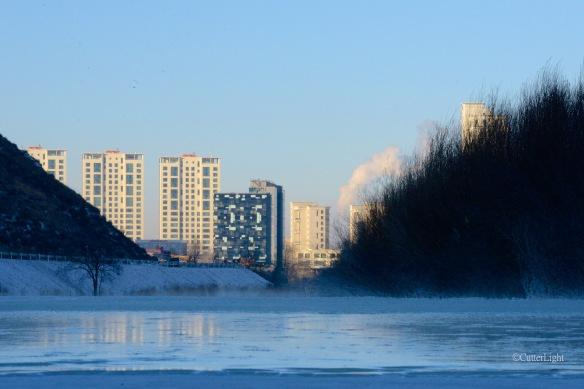 Ulaanbaatar from frozen tuul n