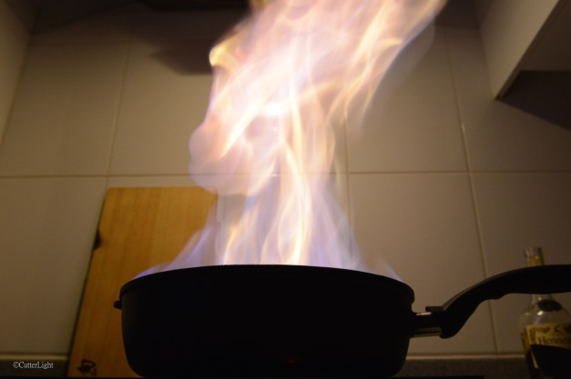 Cooking flame cognac n