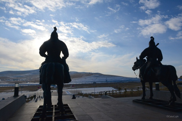 soldier statues at chinggis statue n