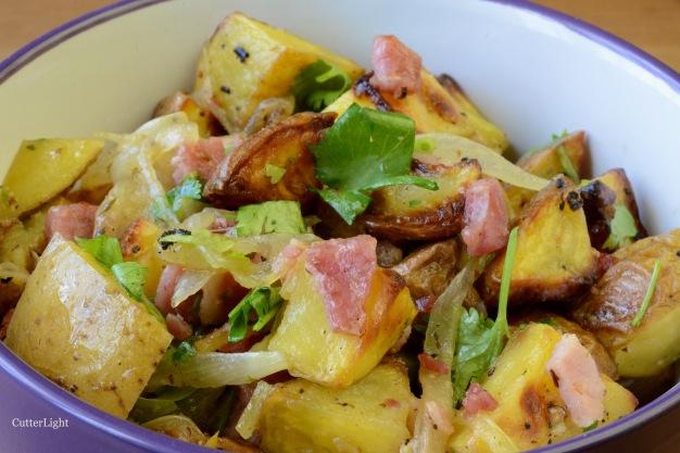potato salad warm roasted n
