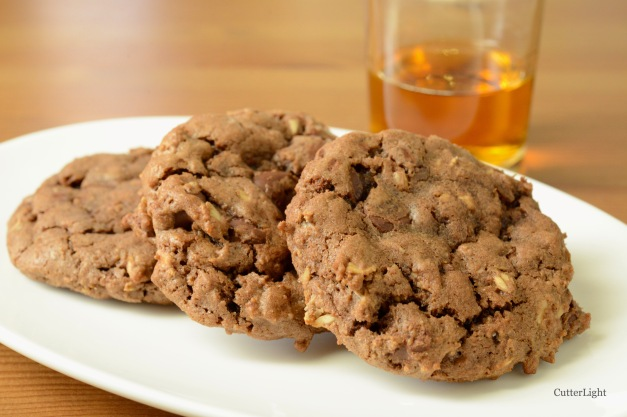 Double chocolate oatmeal cookies n