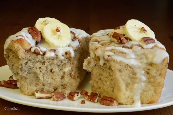 wheat banana cinnamon rolls n