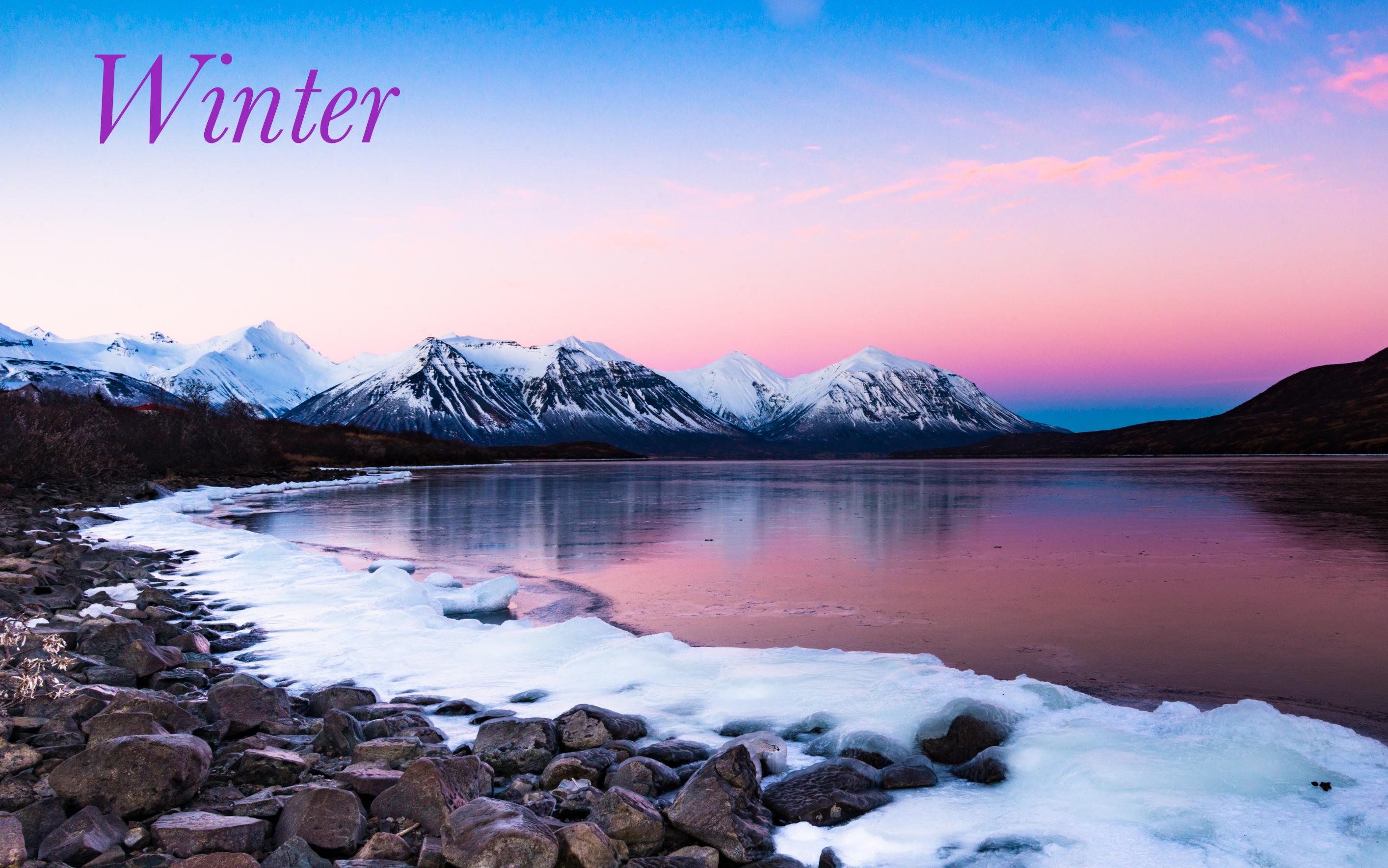 Chignik Lake Winter landscape sunset