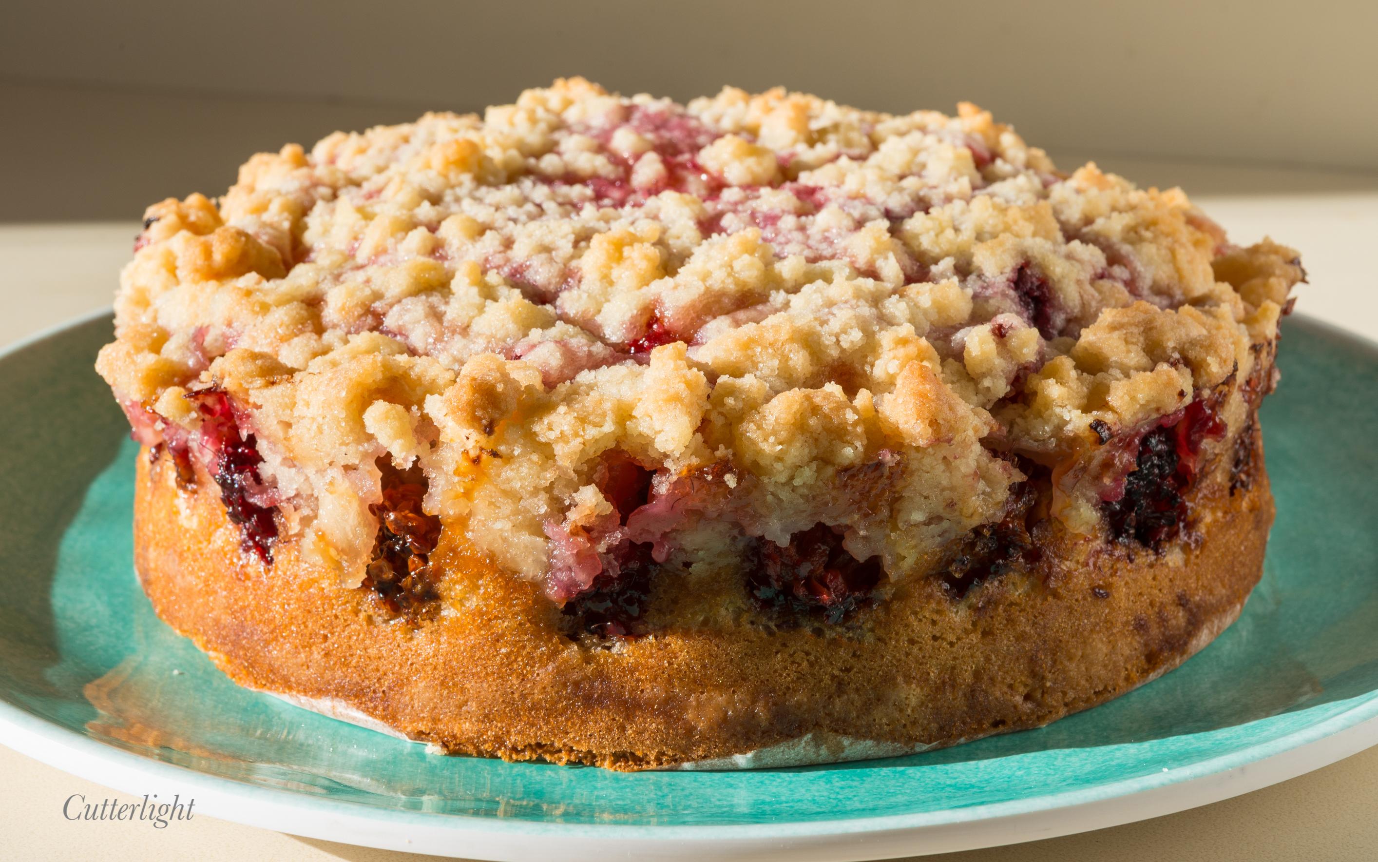Salmonberry crumb cake